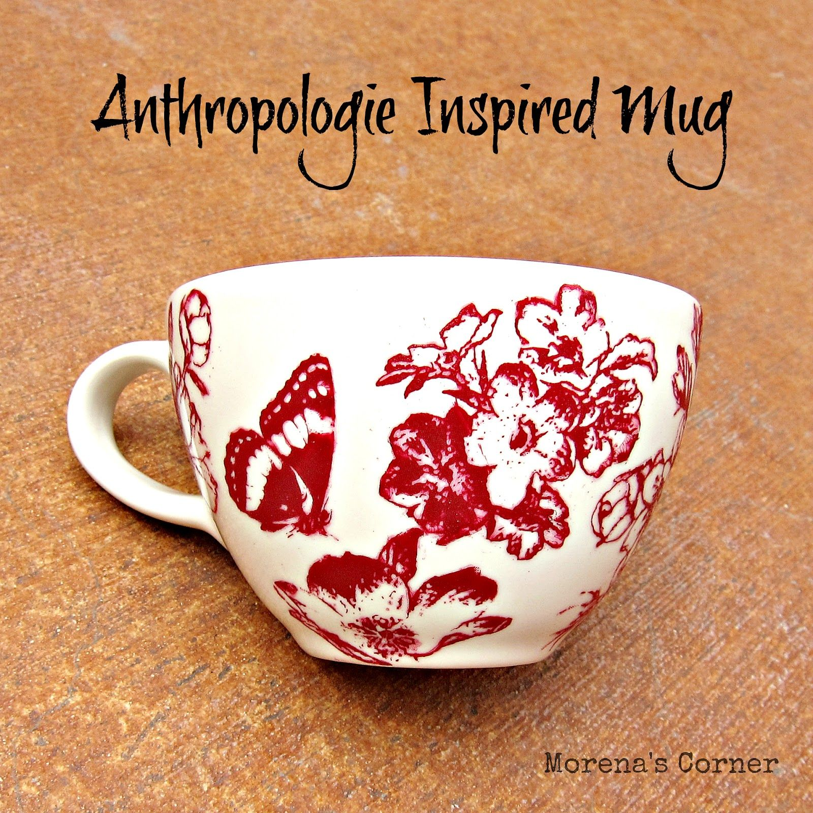 Anthro Inspired Mug made with Martha Stewart Glass Paints