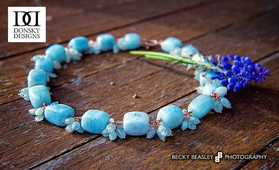 Aqua dance necklace by DonskyDesigns on Etsy, $129.95