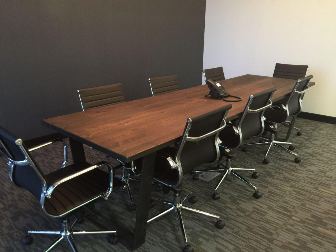 Reclaimed wood conference tables - Antique Reclaimed White Pine Conference Table Rubio Monocoat Intense Grey And Black Oil Finish