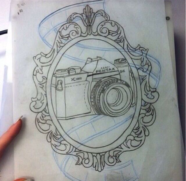 Camera, film, and frame tattoo. | Tattoos | Pinterest | Framed ...