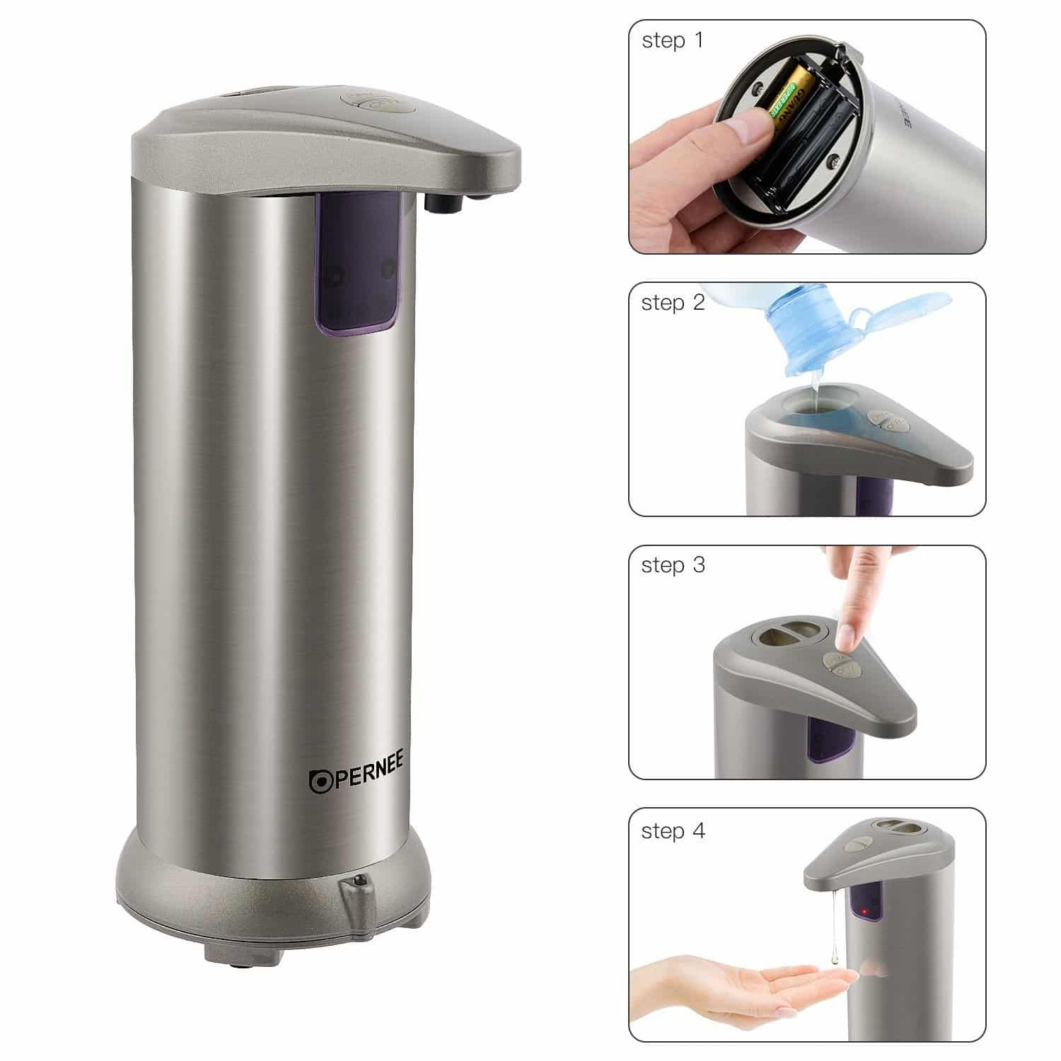 Soap dispenser lazada bathroom mirror with battery lights