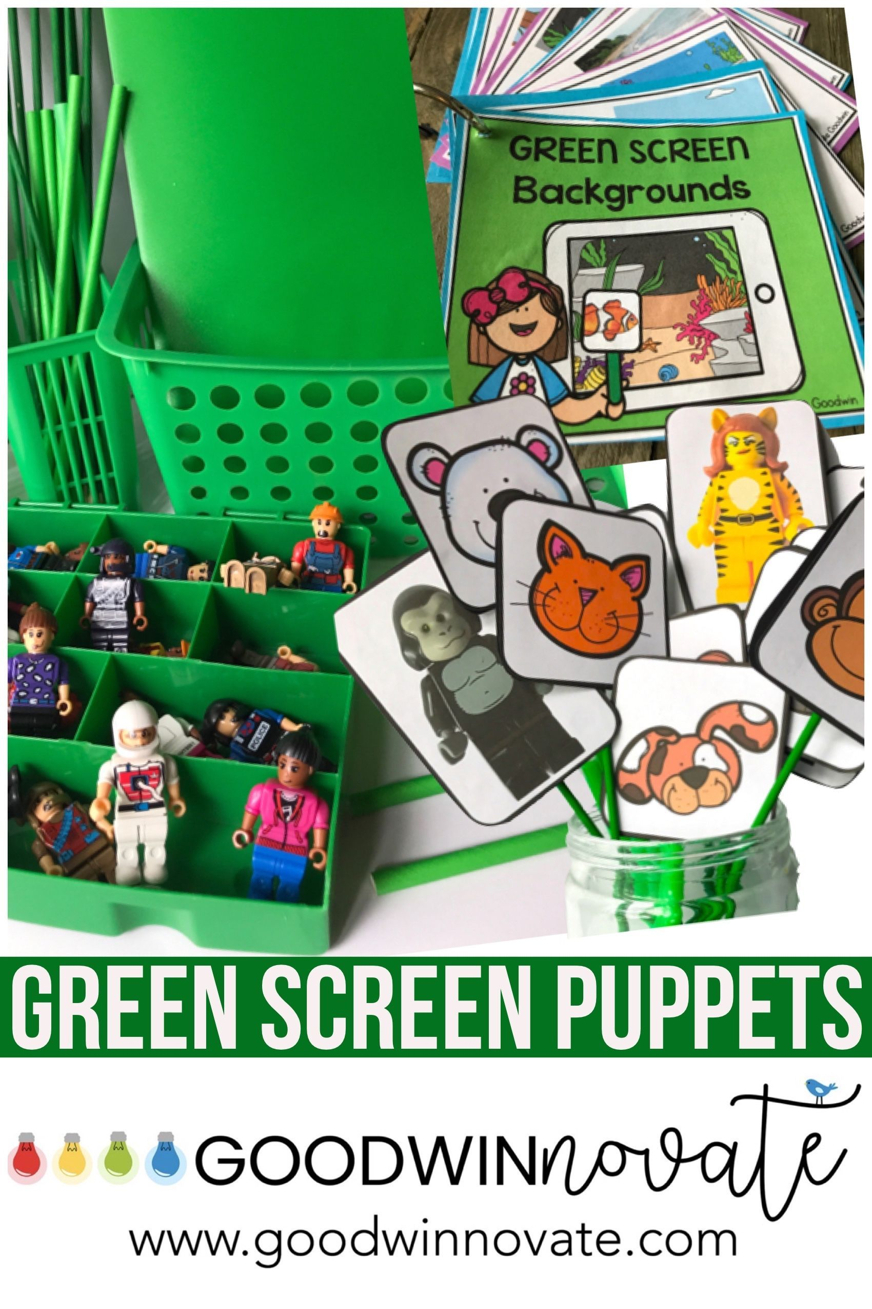 Green Screen Puppet And Blank Scripts For Green Screen Projects And Activities Greenscreen Green Screen Backgrounds Green Screen App