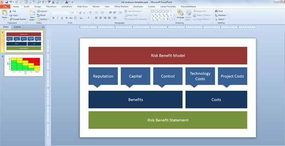 Designing A Risk Benefit Diagram For Risk Benefit Analysis Presentations,  #free #ppt #  Benefits Analysis Template