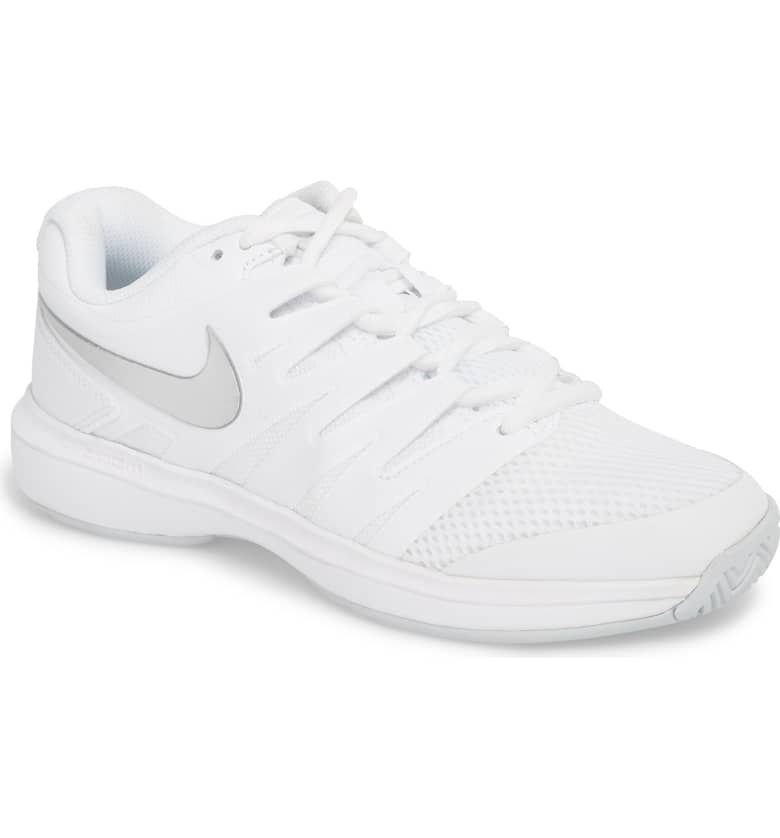 Air Zoom Prestige Tennis Shoe Main Color White Metallic Silver Womens Tennis Shoes Tennis Shoes Nike Air Zoom