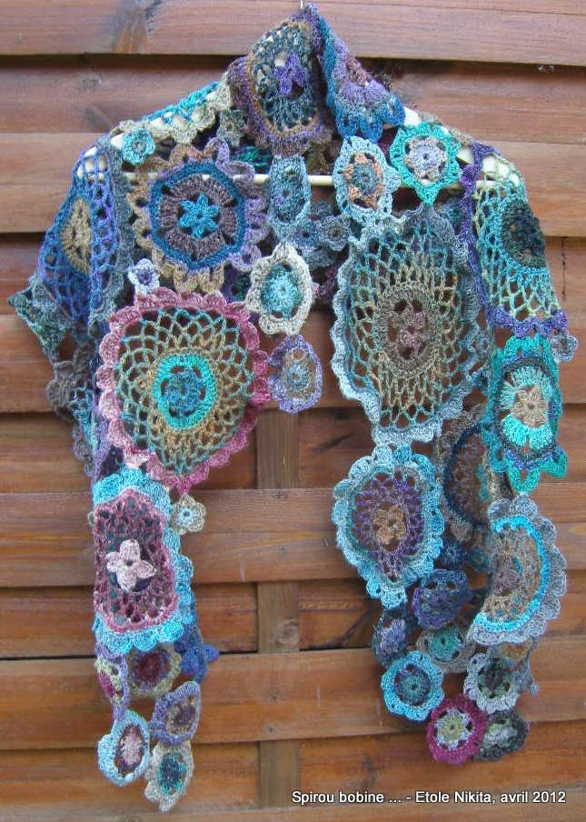 Beautiful shawl ! | Crochet Patterns | Pinterest | Kleidung häkeln ...