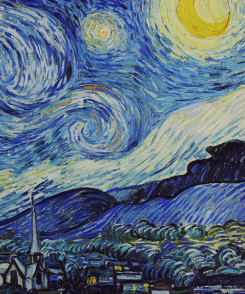 Starry Night (detail) by Vincent van Gogh, Museum of