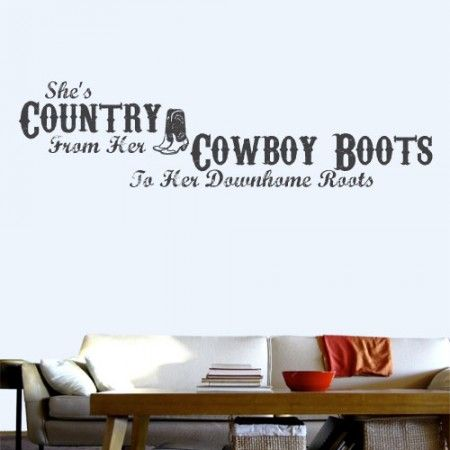 Shes Country Wall Decal Quotes Wall Graphics Baby Wall Decals