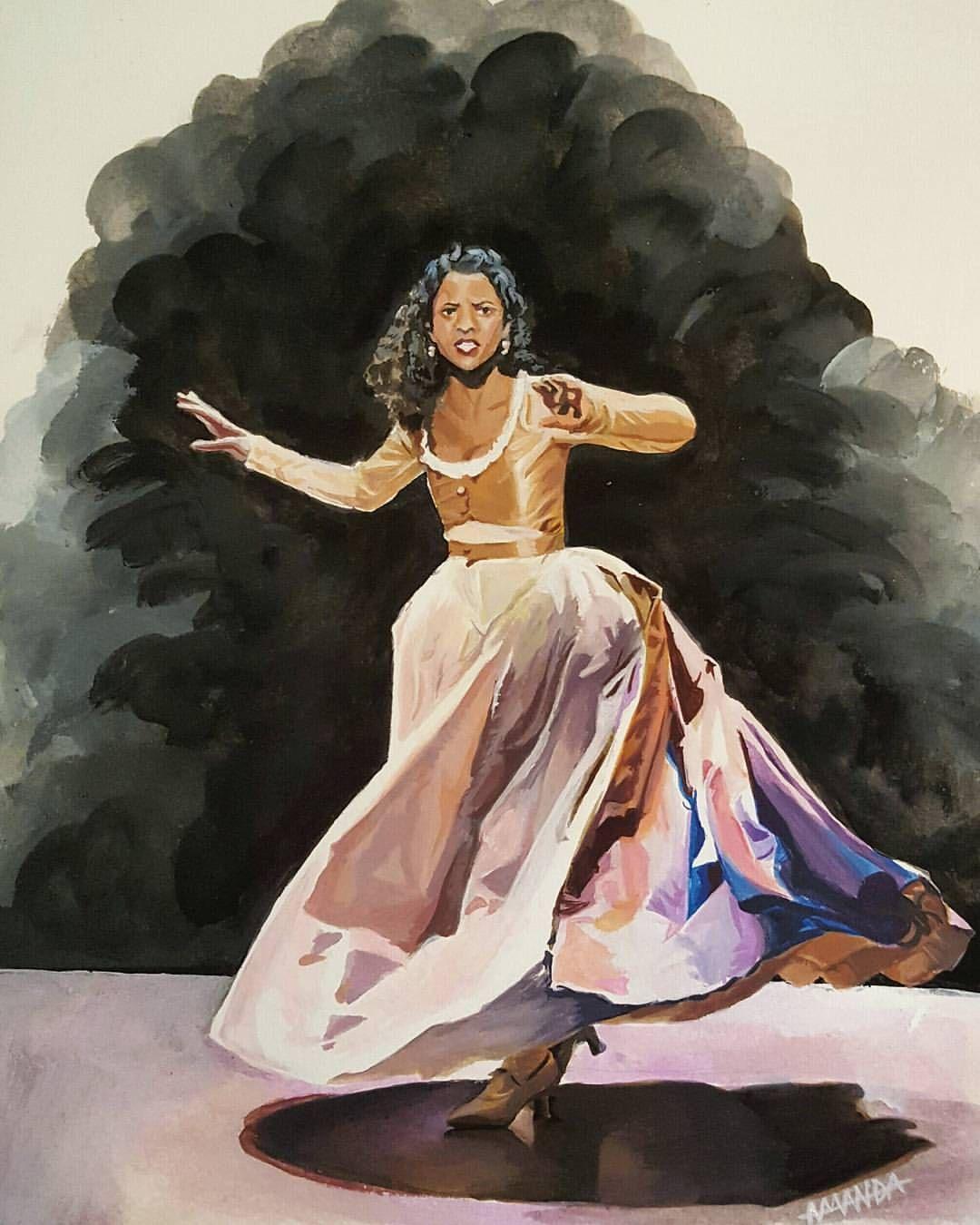 Angelica Schuyler As Requested By Wtfimunicorn On Instagram Like A Month Ago Hamilton Musical Hamilton Fanart Hamilton Funny
