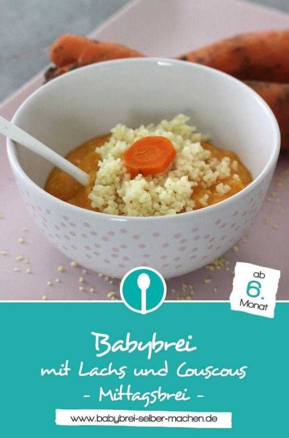 Photo of Lachs-Karottenbrei mit Couscous – Rezept für Babybrei mit Fisch