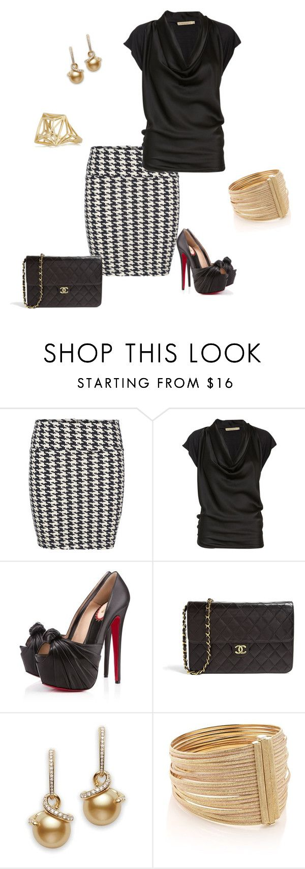 """Untitled #172"" by julia0331 ❤ liked on Polyvore featuring ONLY, Rabens Saloner, Christian Louboutin, Chanel, Carolina Bucci and Solange Azagury-Partridge"