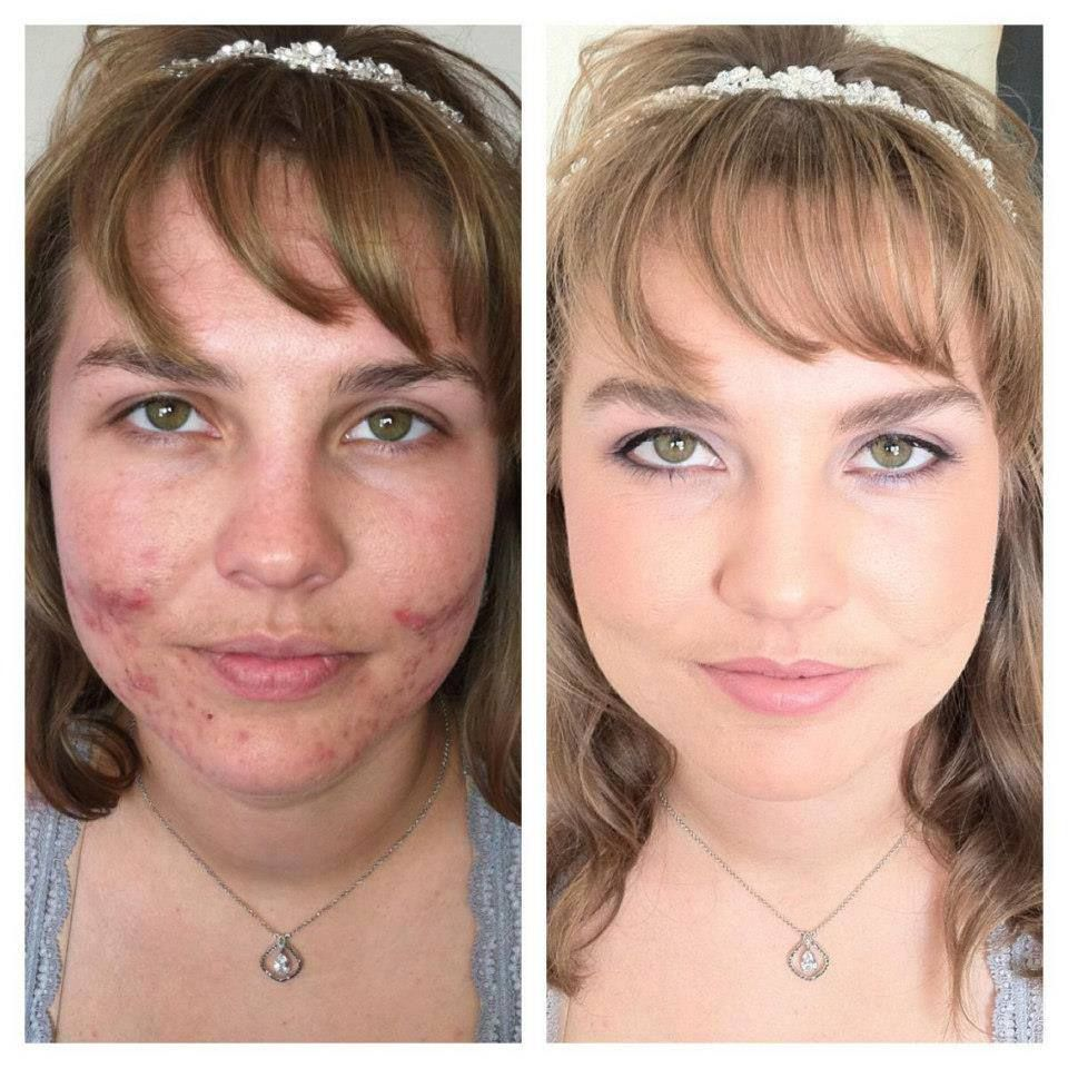 Before and After Dinair Airbrush Makeup www.airbrushmakeup