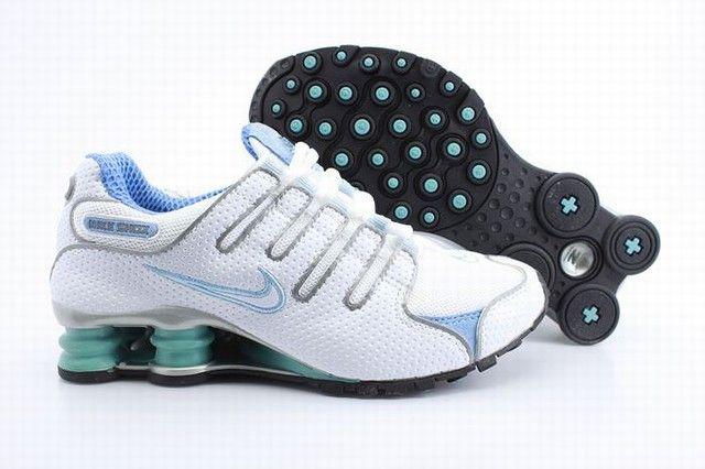 93381fe77f4 Nike Shox NZ White Light Blue Womens Shoes Air Shox Womens sale on http