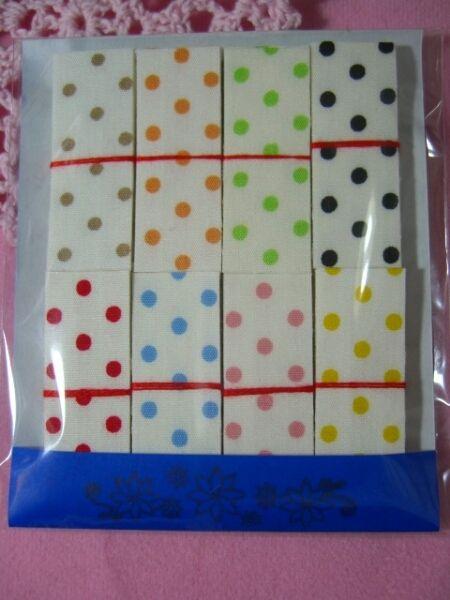 Wrapping ハンドメイド布シール#183水玉28色80枚 インテリア 雑貨 Handmade ¥260yen 〆05月22日