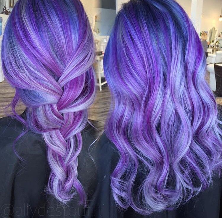Purple Blue Hair Color Appreciated By Www Extensionsofyourself Com