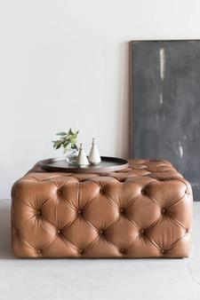 Tufted Ottoman Ottoman Decor Tufted Leather Ottoman Leather