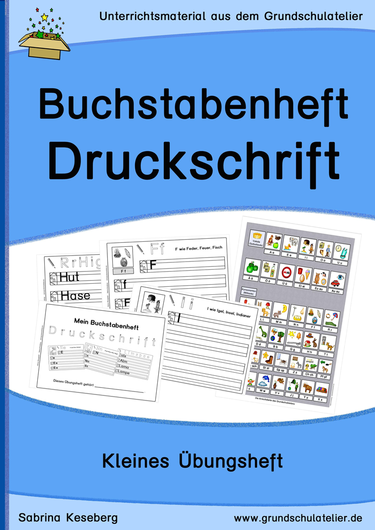 Buchstabenheft: Druckschrift (Übungsheft) | Druckschrift ...