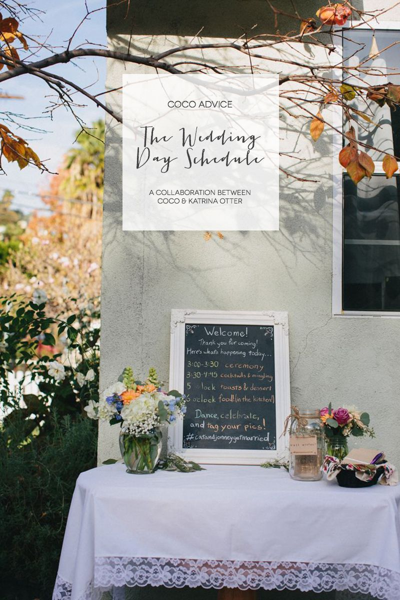 A Guide To Wedding Day Schedules