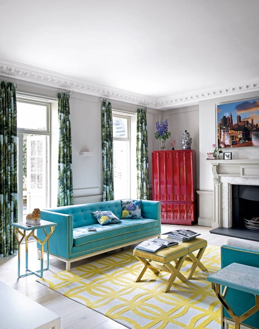 10 Best Turquoise Wall Living Room