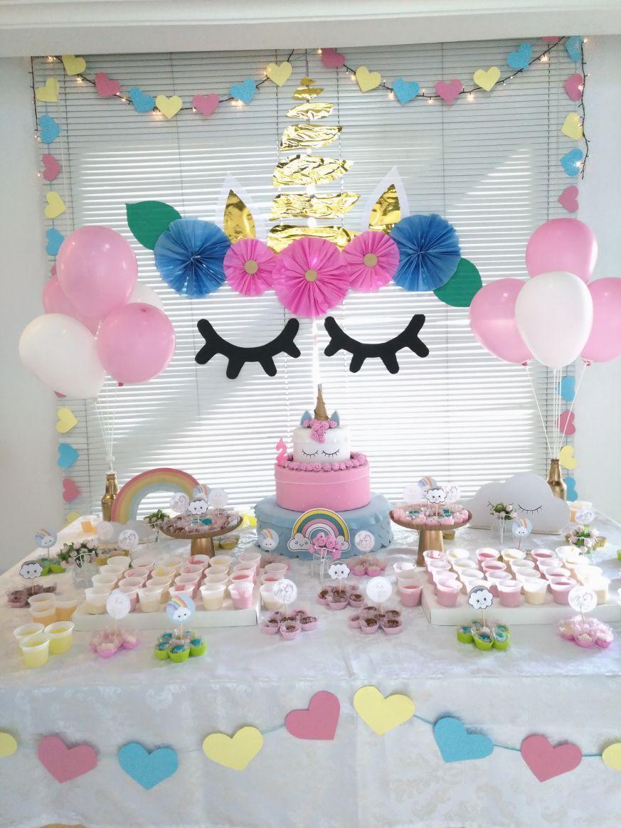 Festa unicórnio by daiane belo aniversário isadora anos great
