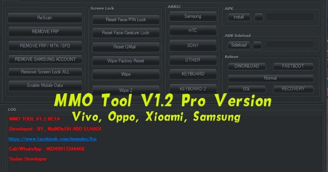 MMO Tool V1 2 Pro Version For Vivo Oppo XioamiSamsung Free