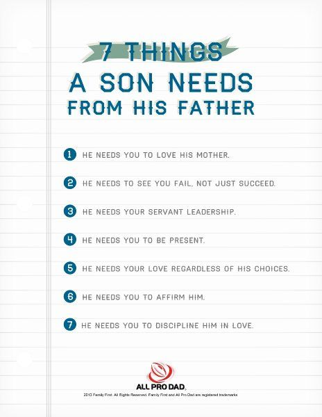7 Things a Son Needs from His Father | Motherhood | Consejos