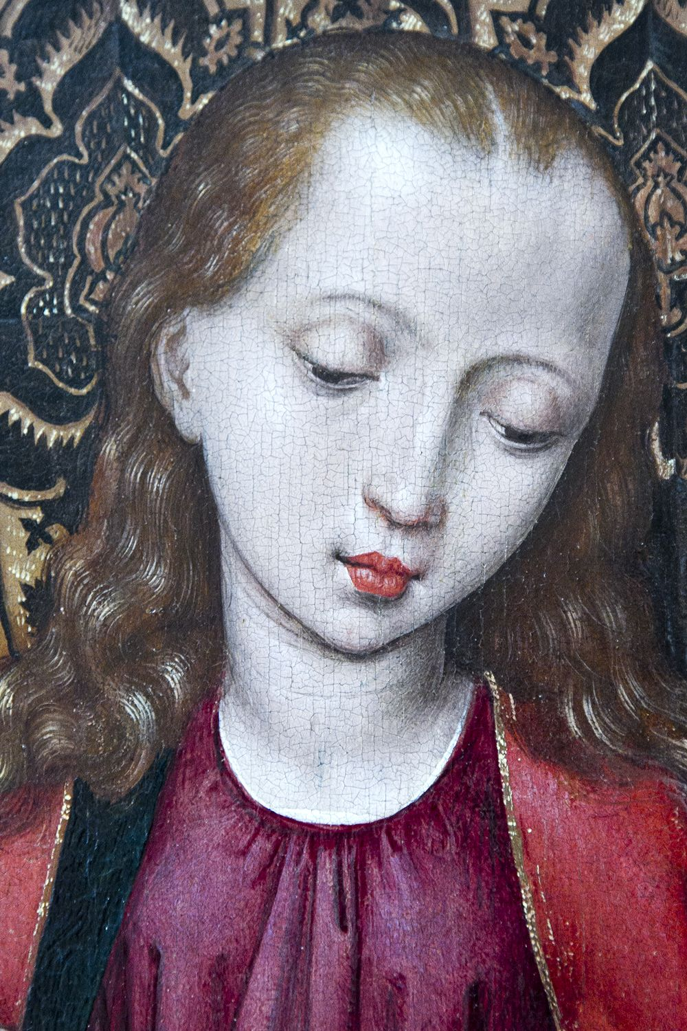 detail of the face of the Madonna from the Jan de Witte