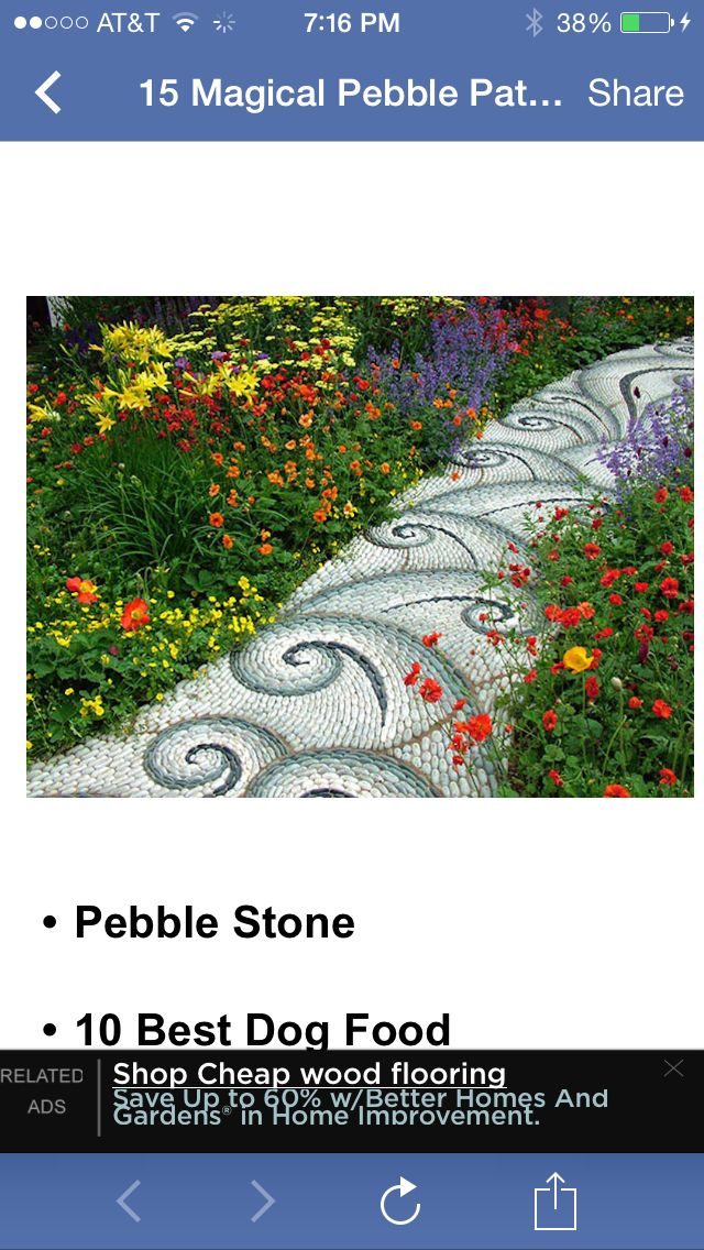 Pebble Garden Path Way Designs