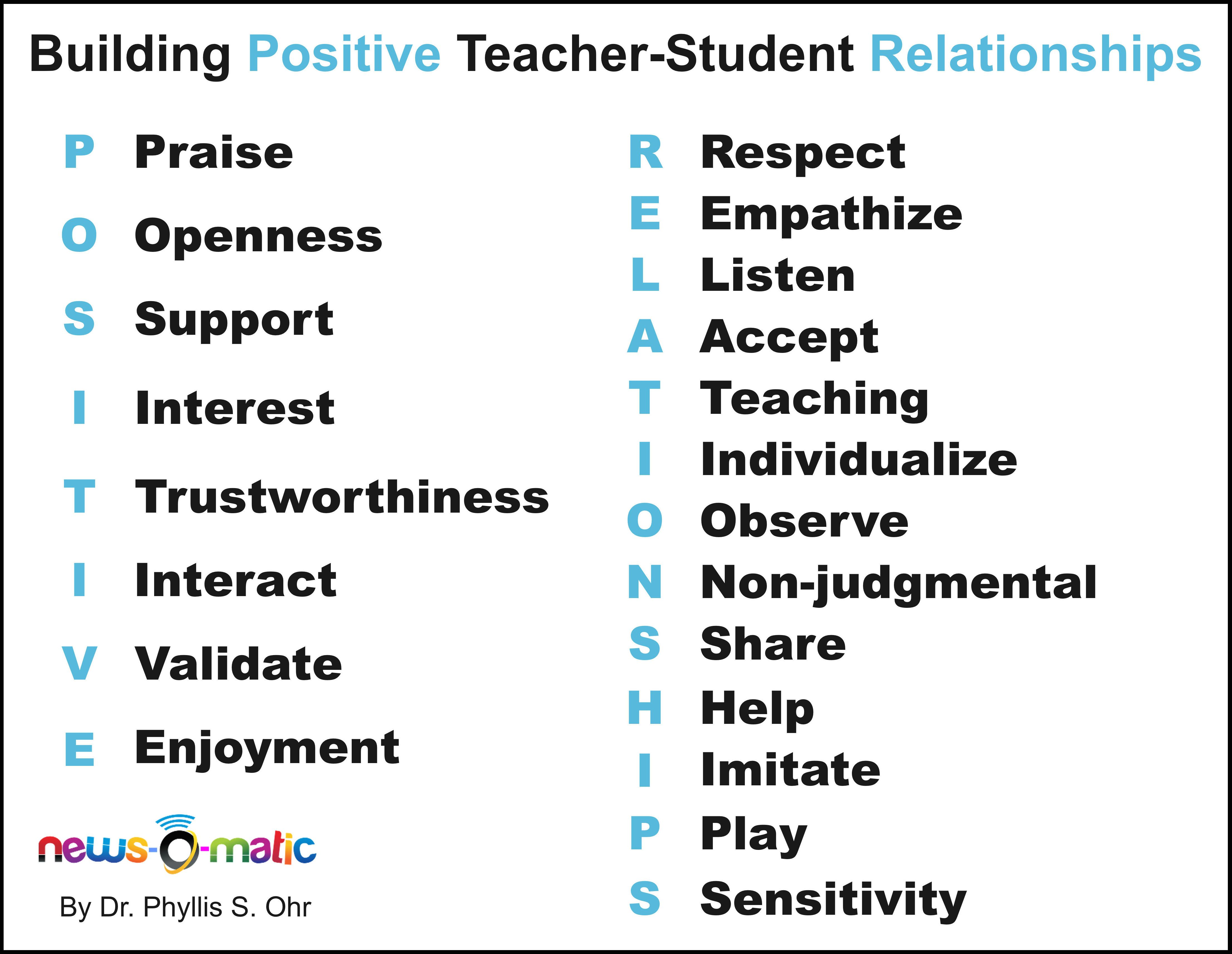 How To Foster A Positive Relationship With Students Dr