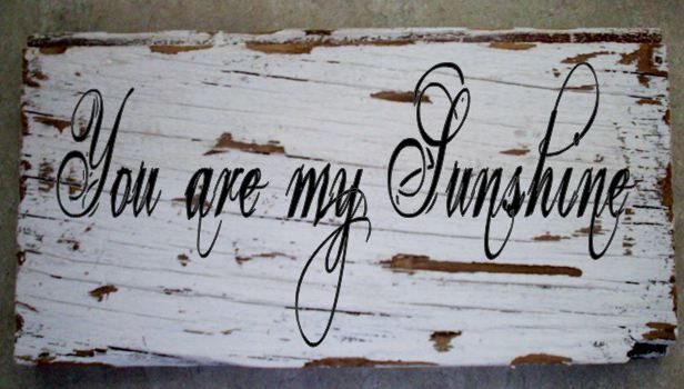 You are My Sunshine Barnwood Sign 13 x 5 by TheRavagedBarn on Etsy