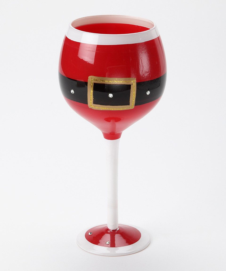 Another Great Find On Zulily Red Santa Belt Wineglass By Dei Zulilyfinds Christmas Wine Glasses Christmas Glasses Wine Glass Crafts