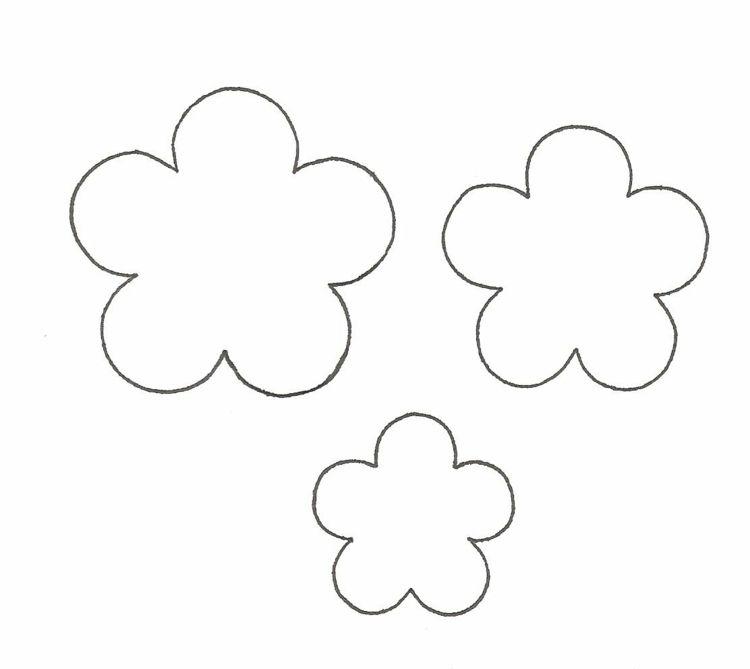Blumchen Fur Schablonenmalerei Blumen Schablone Blumen Vorlage Blumen Basteln
