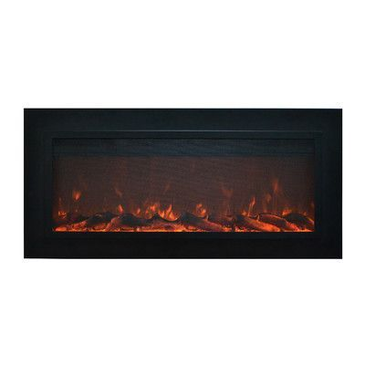 Orren Ellis Mosteller Steel Recessed Wall Mounted Electric Fireplace Wall Mount Electric Fireplace Electric Fireplace Recessed Electric Fireplace