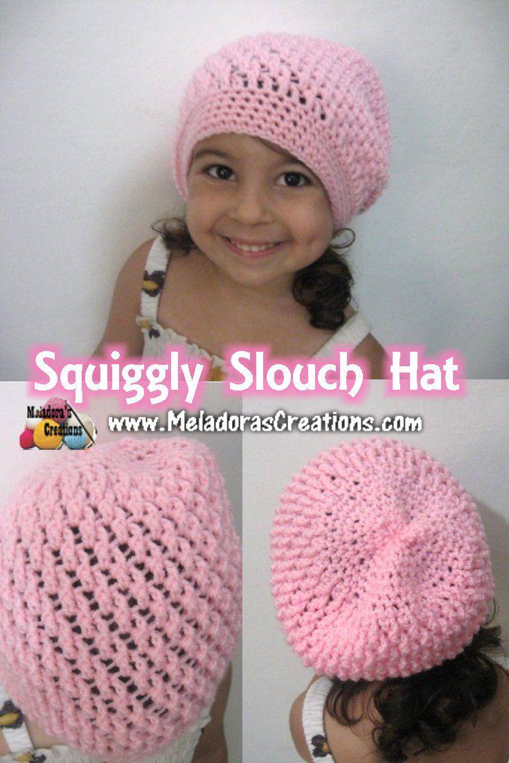 Squiggly Slouch Hat - Free Crochet Pattern | Mütze, Gehäkelten schal ...