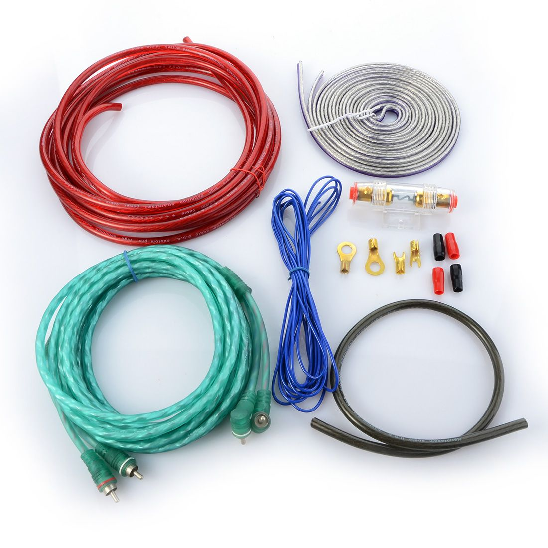 New Car Audio Wire RCA Amplifier Subwoofer Cable Speaker Wire Kit ...