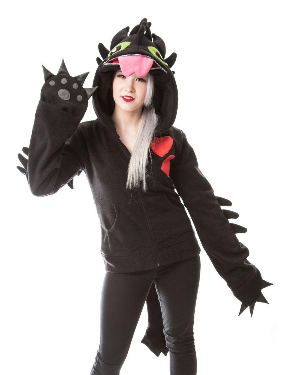 Nouveau produit : Veste sweat noir cosplay dragon krokmou