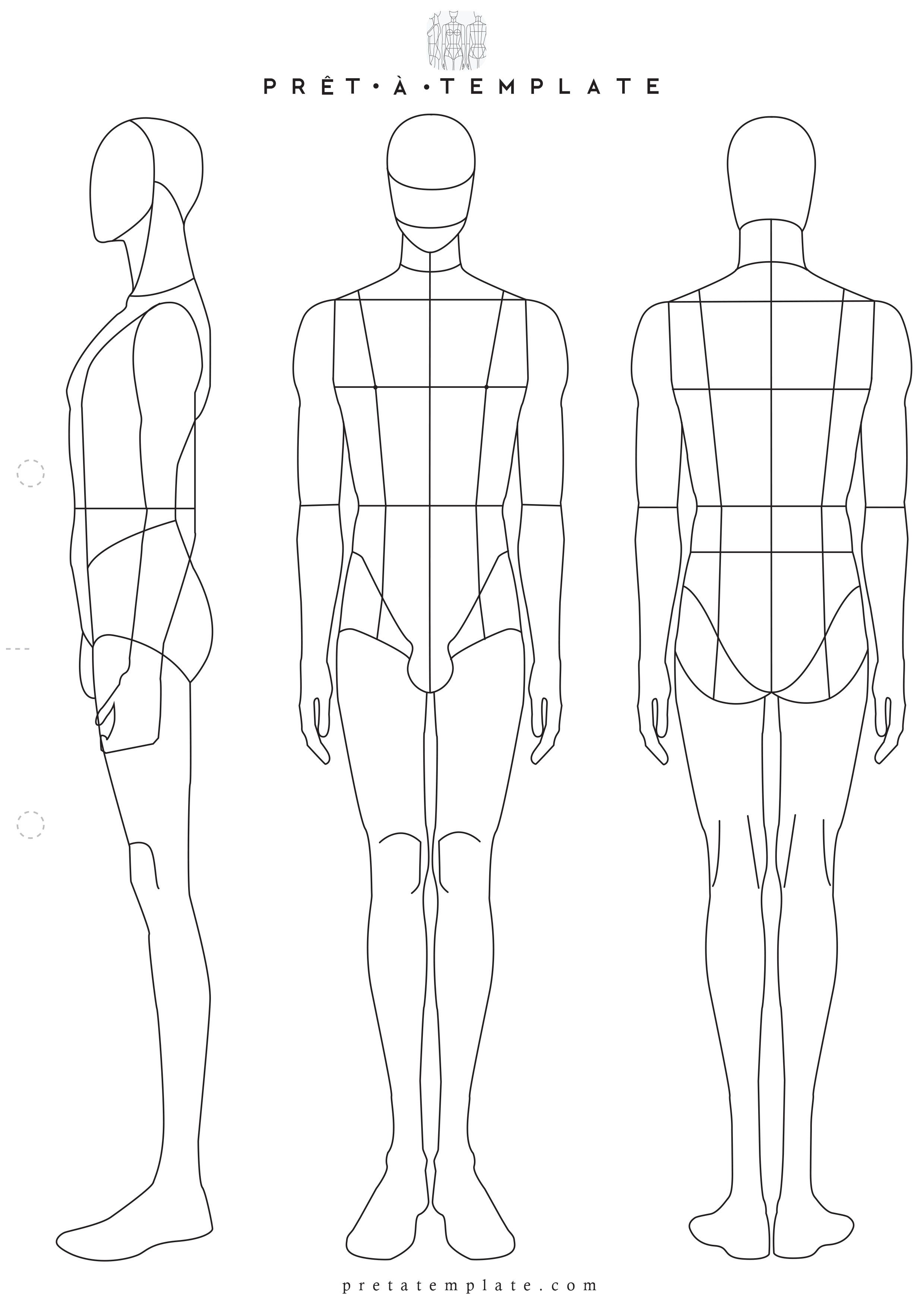 Man male body figure fashion template (D-I-Y your own