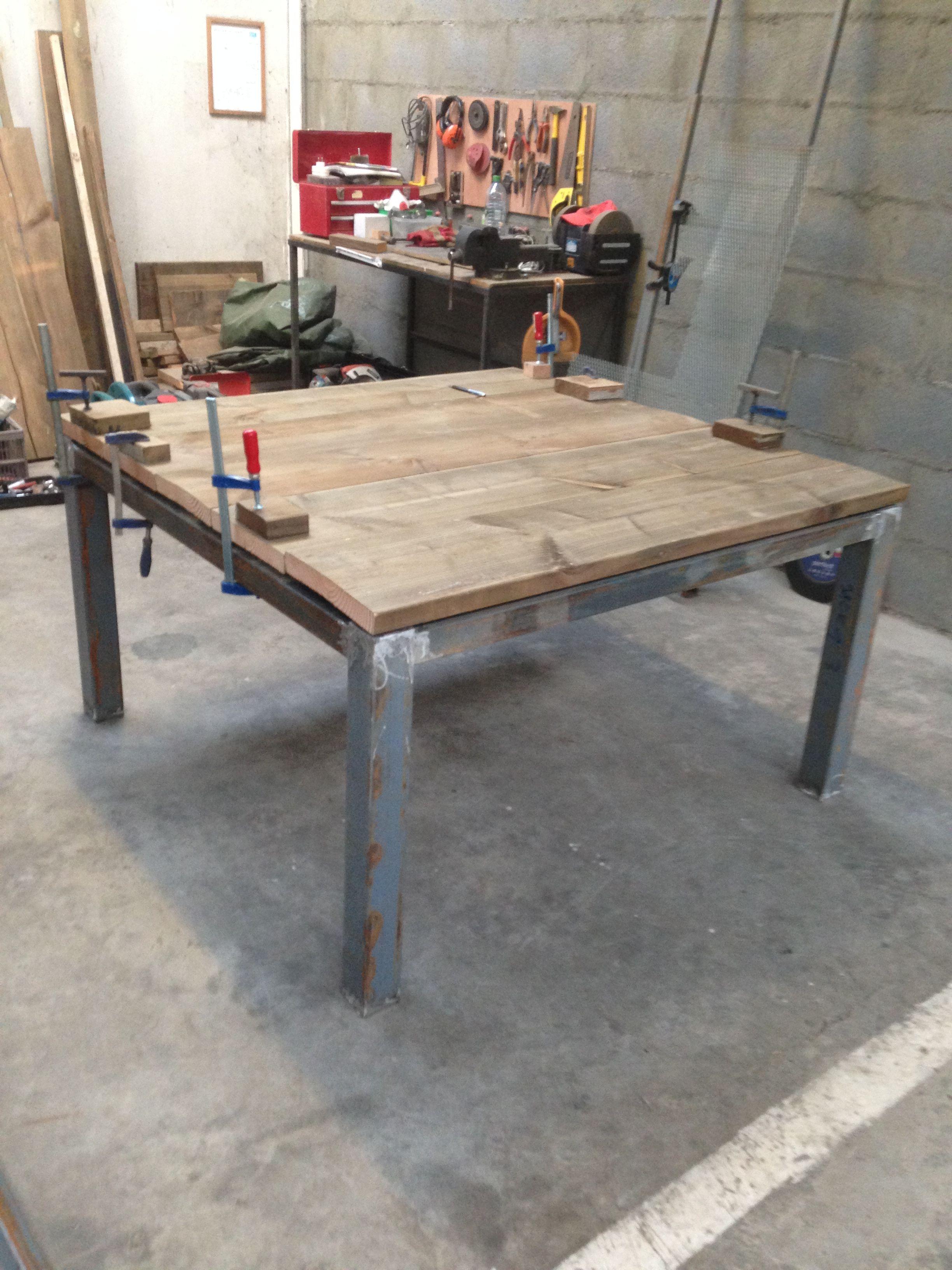 Table Carre Double Plateau Deco Maison Deco Meubles Industriels