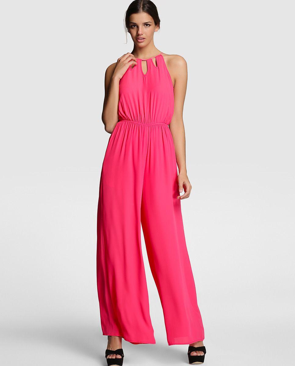 09ac2b3f9a37 Mono largo de mujer Green Coast en rosa fucsia | Vestidos | Monos ...