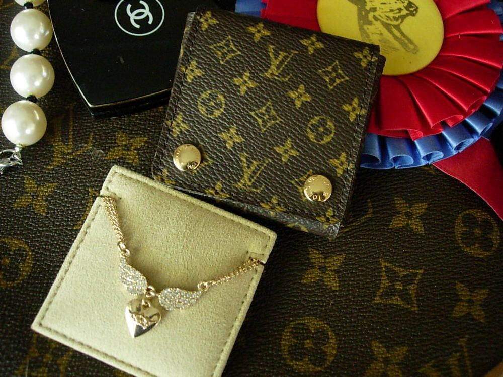 Ultra RARE LOUIS VUITTON Monogram Necklace Jewelry Case Travel