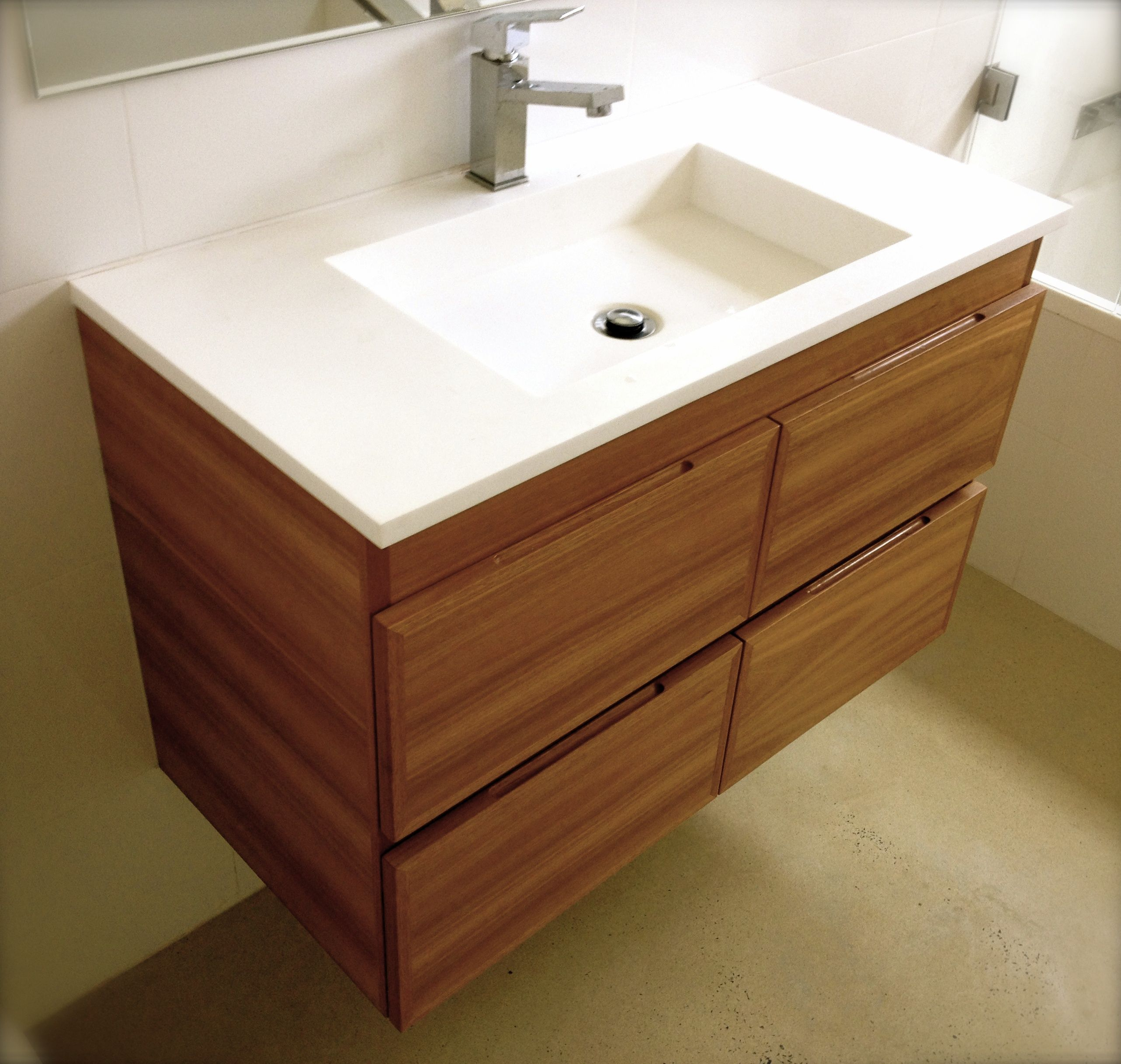 Contemporary/modern bathroom vanity in Australian Blackbutt by Simon ...