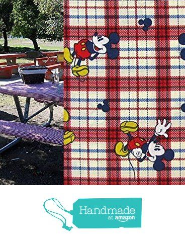 Custom Stay Put Fitted Mouse Reusable Tablecloth Set Picnic Or