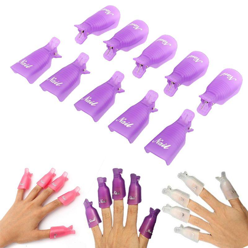 3 Colors 10Pcs/Set Wearable Acrylic Nail Polish Removers