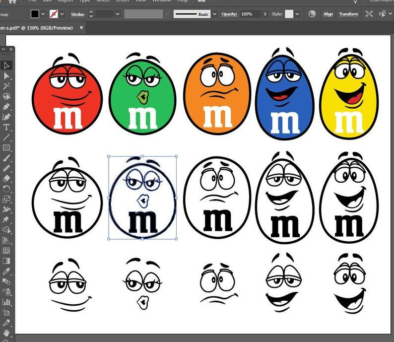 M Ms Characters Clipart Set Svg Pdf Eps Dxf Files For Etsy Silhouette Cameo Crafts Coloring Book Pages Cricut Projects Vinyl