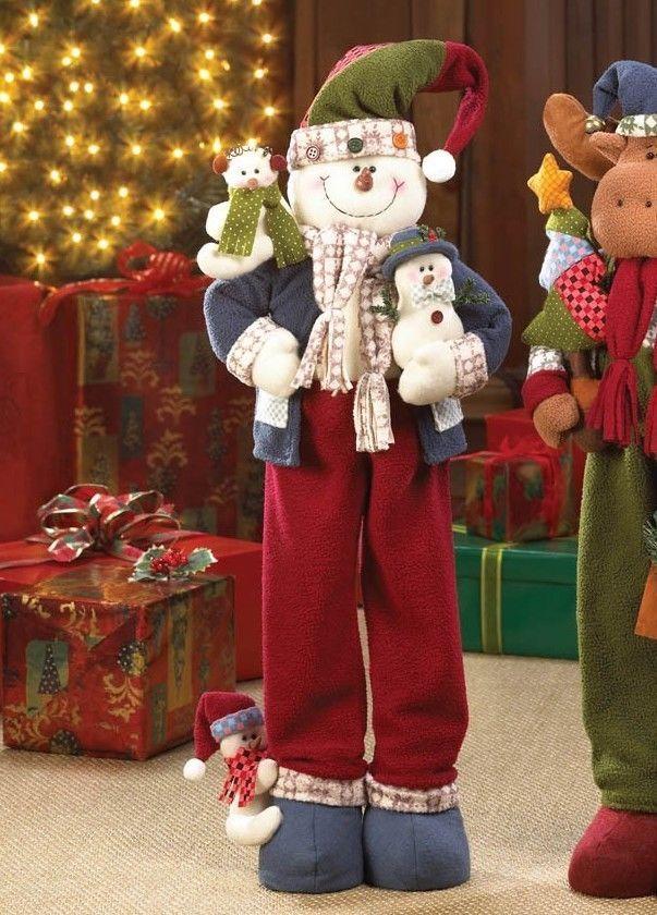 SNOWMAN 26\ - moose christmas decorations