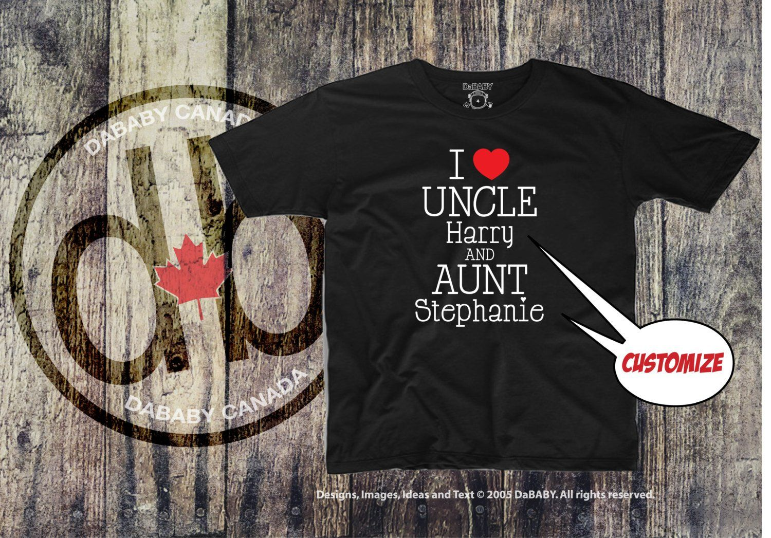 Personalized I Love My Auntie Amp Uncle T Shirt Gender