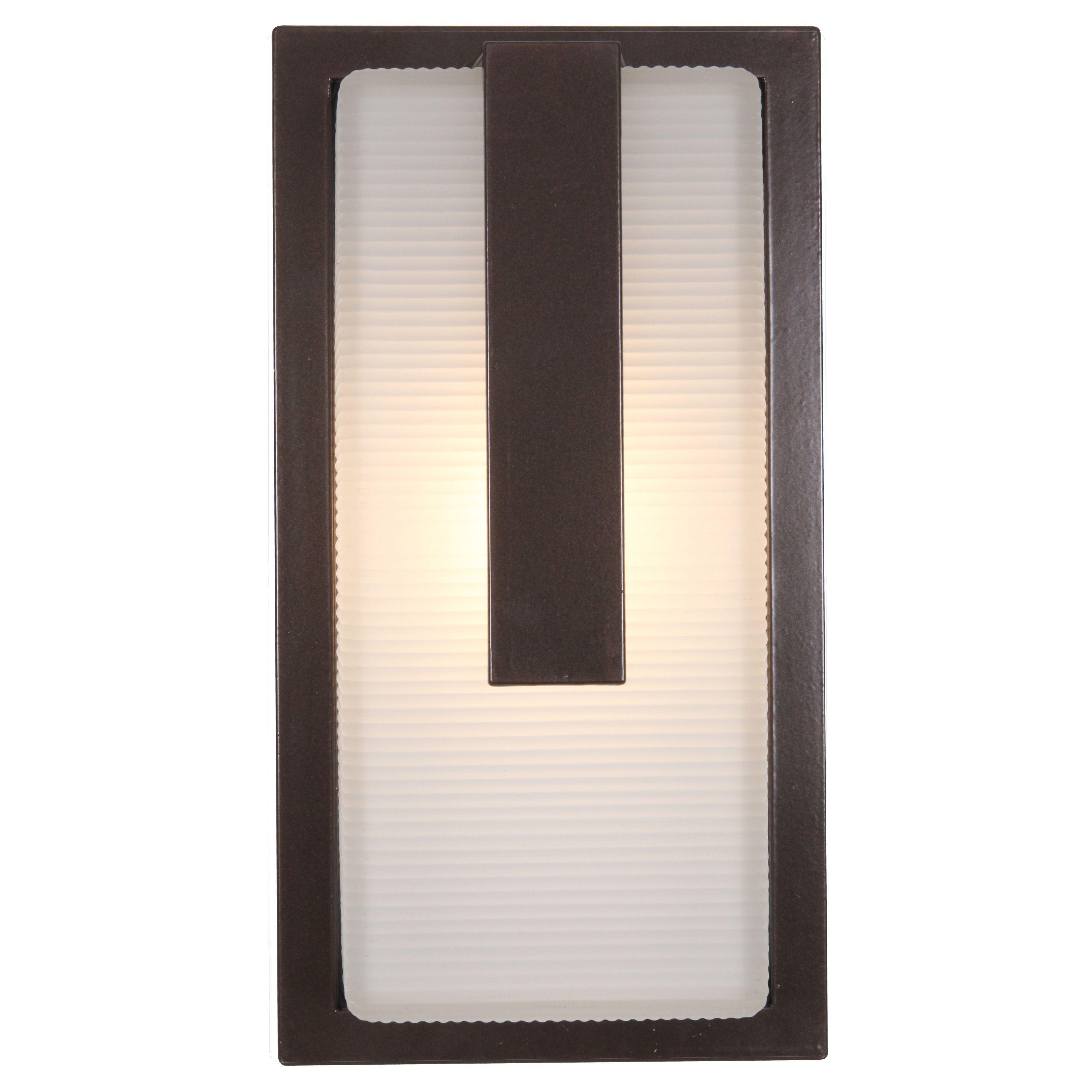 Access lighting neptune bronze outdoor wall light bronze ribbed