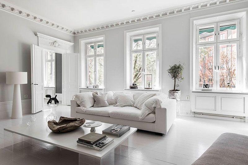 Bold Decor In Artful White Swedish Apartment White Apartment