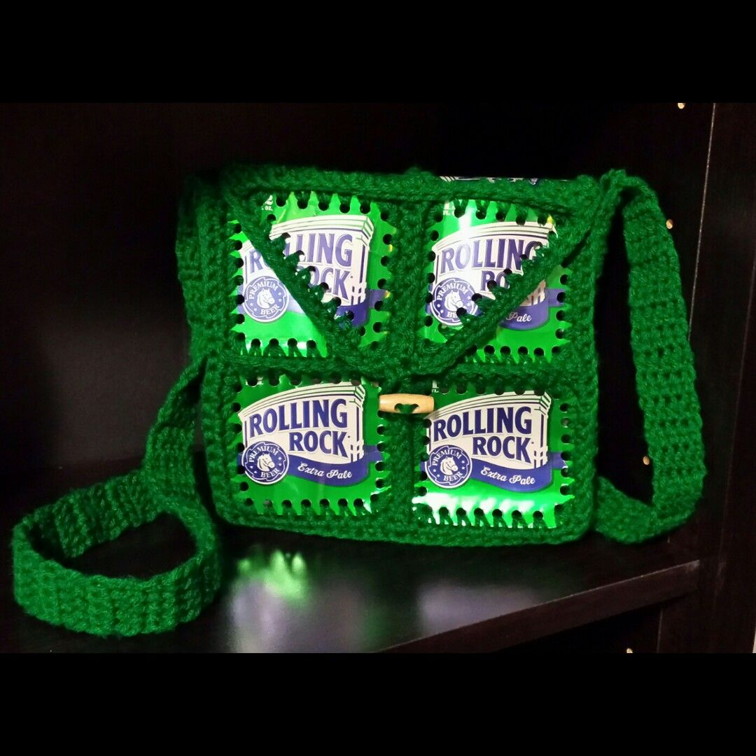crochet beer can purse, Fishlips the mad hatter on Facebook ...