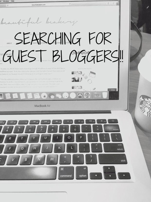 Searching for Guest Bloggers! If you're a beauty blogger and want some extra exposure, contact me to write a guest post! | beautiful beakers