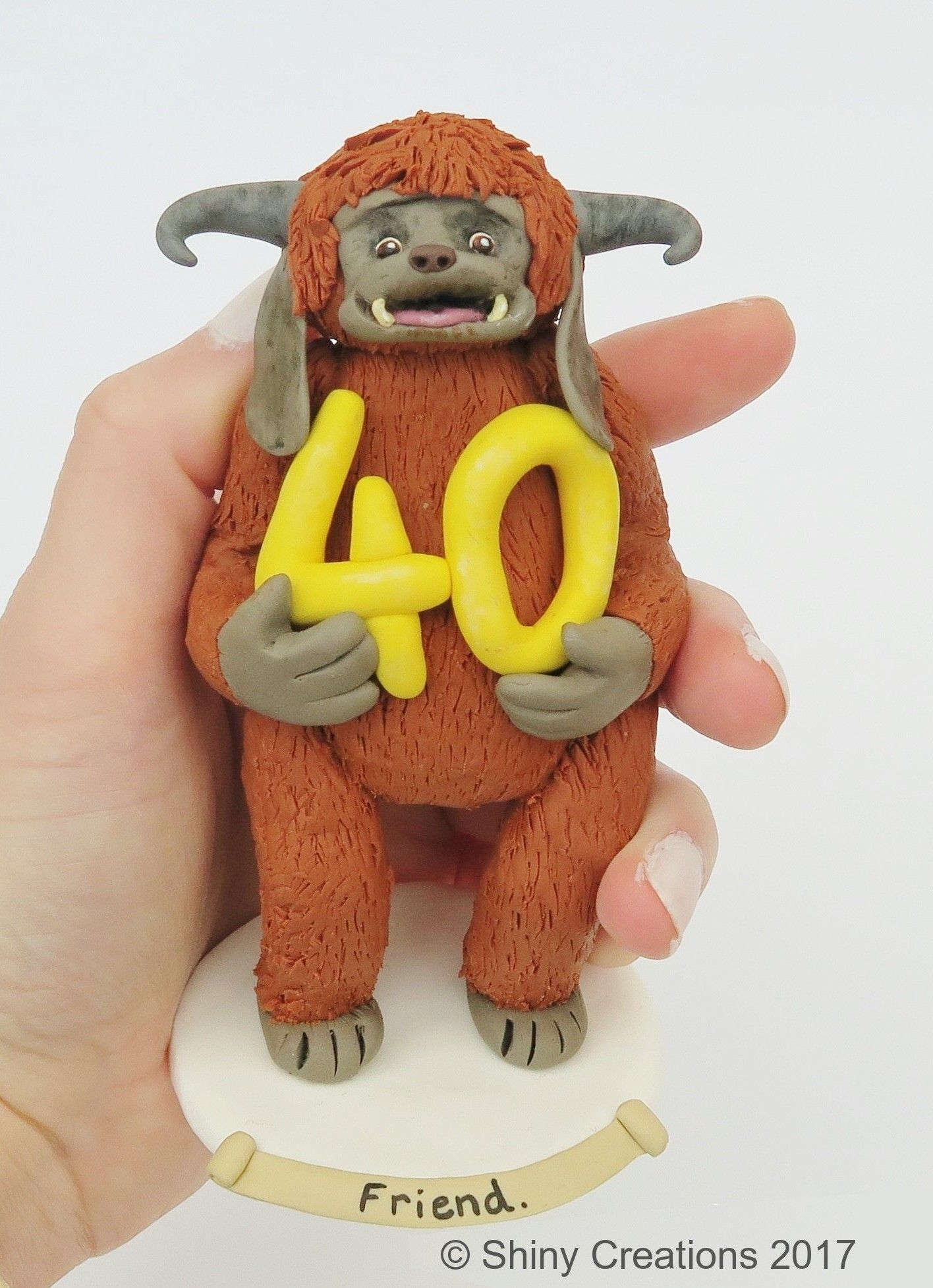 Hannah's Best Friend, 40th Birthday Ludo from Labyrinth Caketopper handmade by www.shinycreations.co.uk Shiny Creations